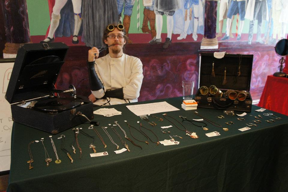The mad mortician at my very own stall - photograph by Jacklyn Hyde