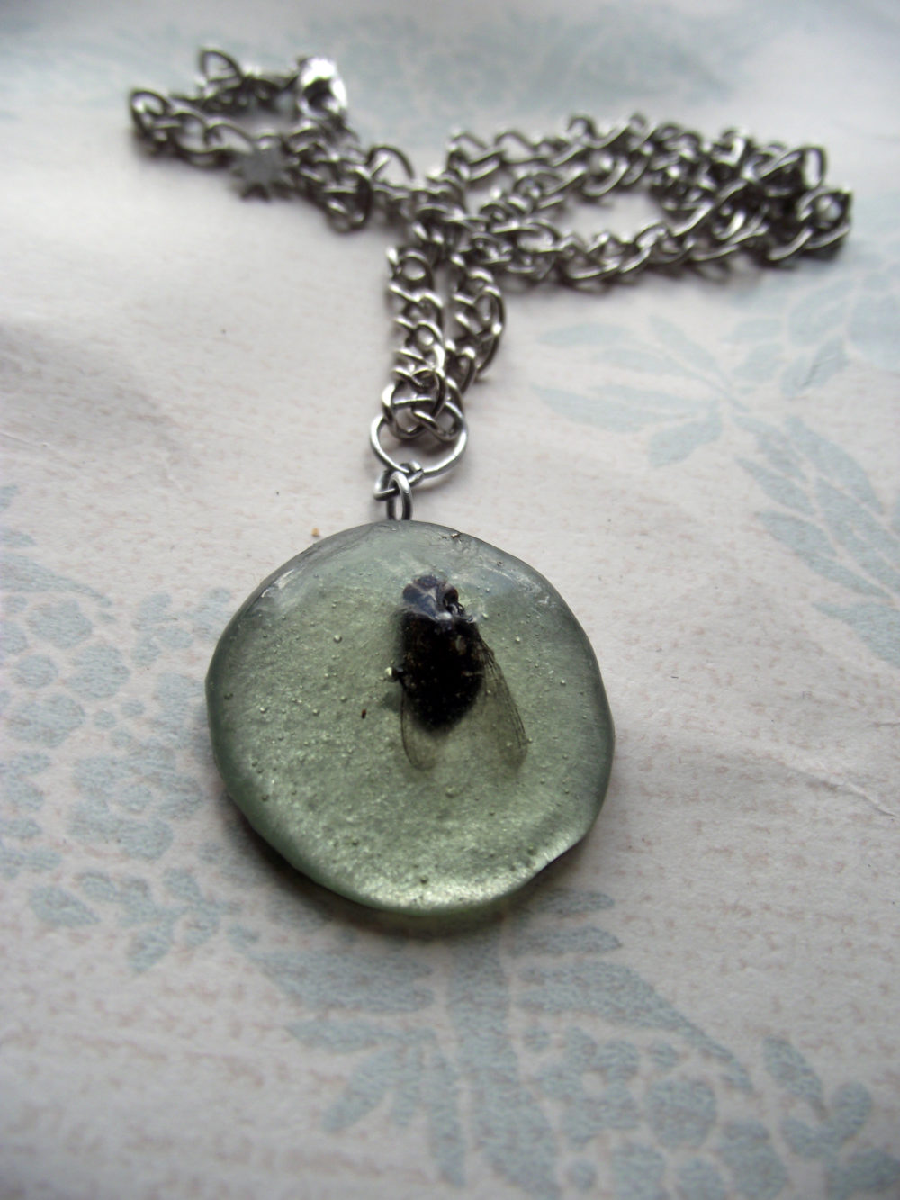 Fly in Resin Necklace