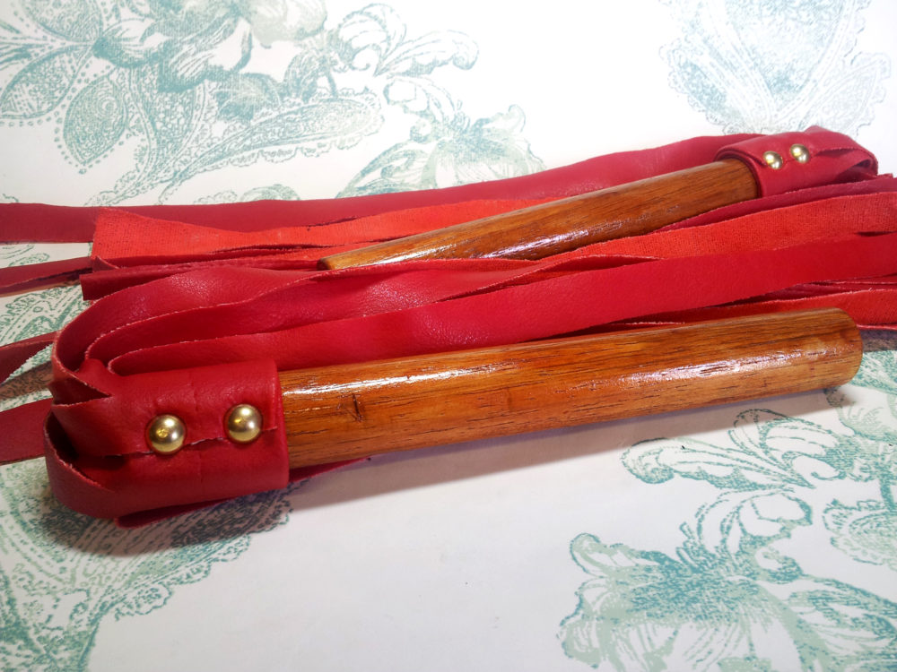 Matching Blood Red Floggers