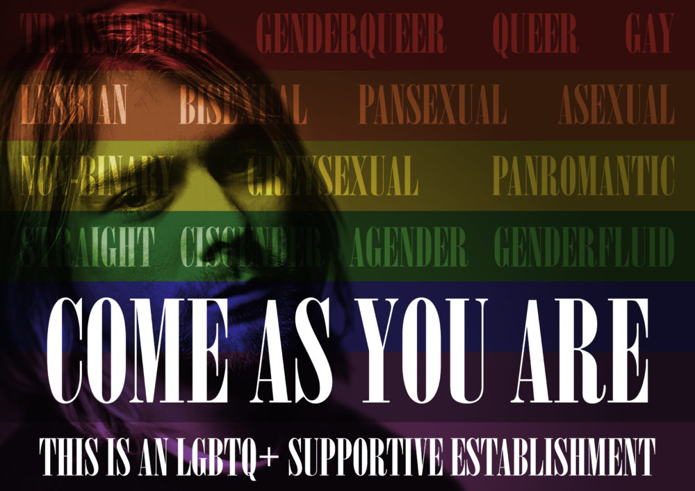 Come As You Are - LGBTQ support poster